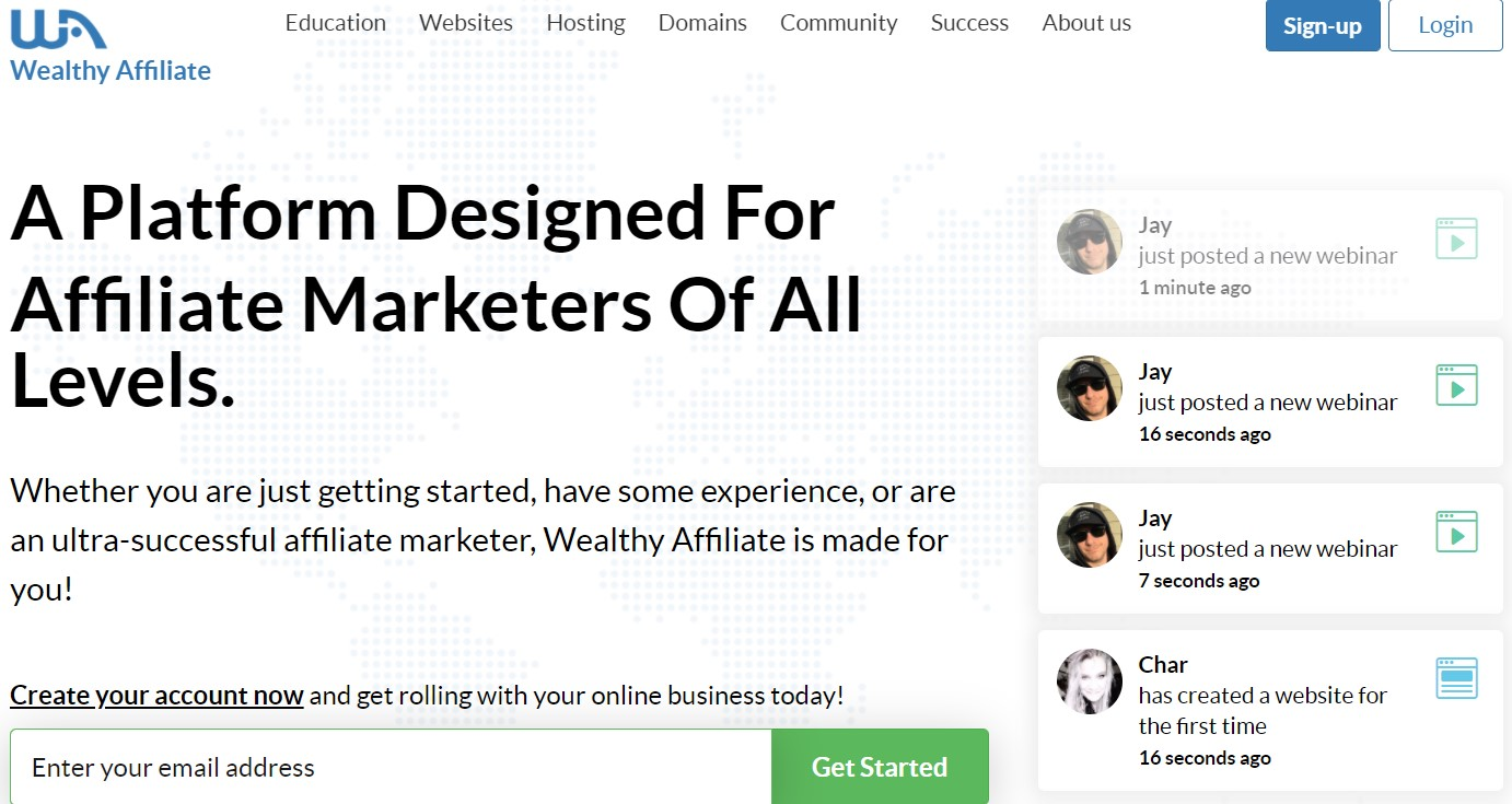 wealthy-affiliate home-page